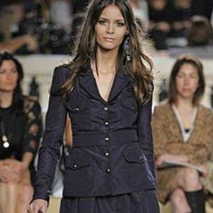 ⭐HP⭐️ Chanel  Navy  Black Trim Silk Taffeta Jacket